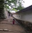 姫路城の坂とめ